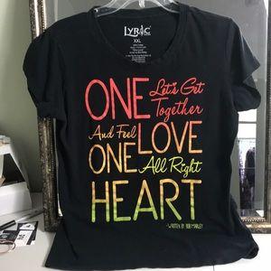 Lyric nation Tee Bob Marley size XXL